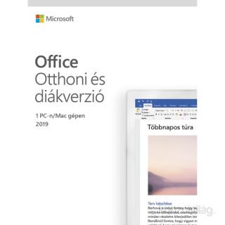 Microsoft Office 2019 Otthoni és diákverzió Elektronikus licenc szoftver PC