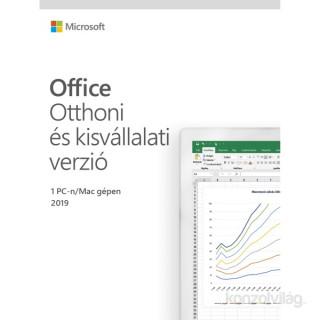 Microsoft Office 2019 Otthoni és kisvállalati verzió Elektronikus licenc szoftver PC