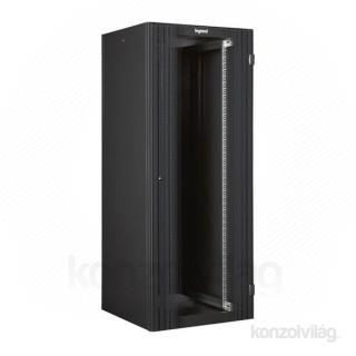Legrand Linkeo 19 colos 24U SZÉL 600 MÉLY 600 MAG 1226 hálózati állószekrény komplett PC