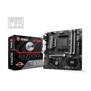 MSI B350M BAZOOKA AMD B350 SocketAM4 mATX alaplap PC