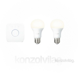 Philips Hue White Starter kit 9.5W E27 okos lámpa szett PC