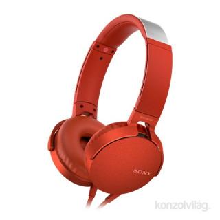 SONY MDRXB550APR.CE7 extra bass piros fejhallgató PC