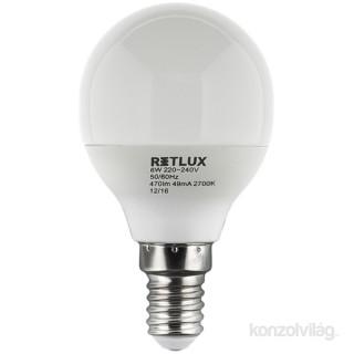 Retlux RLL 268G45 6W 2700k E14 meleg fehér mini gömb izzó PC