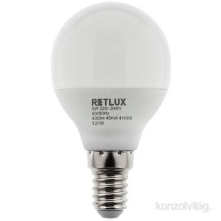 Retlux RLL 269 G45 6W4100K E14 hideg fehér mini gömb izzó PC