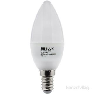 Retlux RLL 263 C35 5W 4100KE14 hideg fehér gyertya izzó PC