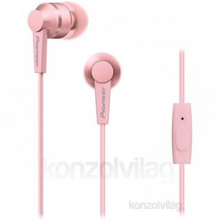 Pioneer SE-C3T-P rózsaszín mikrofonos fülhallgató PC