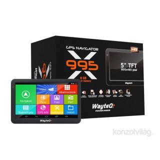 Wayteq WX995 térkép nélküli navigáció PC