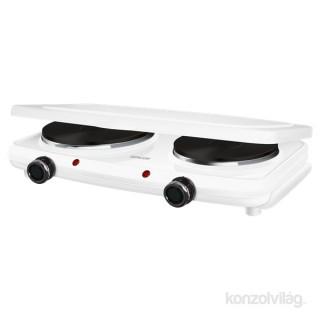 Sencor SCP 2271WH fehér dupla elektromos főzőlap Otthon