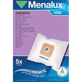 Menalux 4200 5 db szintetikus porzsák + 1 microfilter Otthon