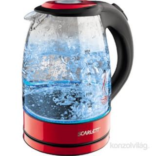 Scarlett SCEK27G99 piros üveg vízforraló Otthon