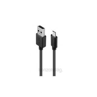 Acme CB1012 2m fekete Micro USB kábel PC