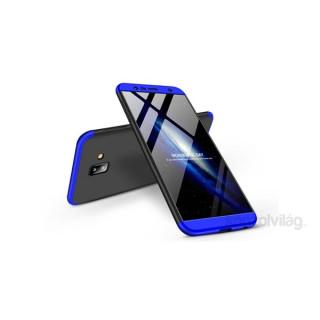 GKK GK0254 3in1 Samsung J6+ 2018 fekete/kék három részből álló védőtok PC