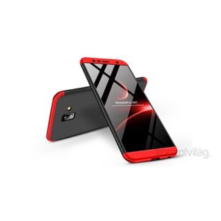 GKK GK0270 3in1 Samsung J6+ 2018 fekete/piros három részből álló védőtok PC