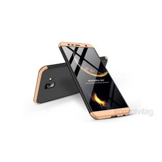 GKK GK0276 3in1 Samsung J6+ 2018 fekete/arany három részből álló védőtok PC
