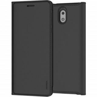 Nokia 3.1 flip cover tok, Fekete Mobil