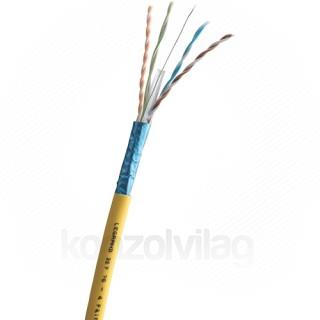 LEGRAND fali kábel réz Cat6A árnyékolt (F/UTP) 4 érpár (AWG23) LSZH (LSOH) sárga PC