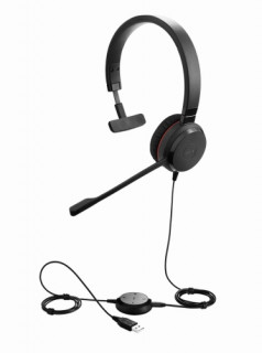 Jabra EVOLVE 30 II MS Mono USB Headband, Noise cancelling, USB and 3.5 connectiv PC