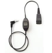 QD Cord to 2,5mm pin plug, straight, 0,3 meters, with call answering at cord, e. PC