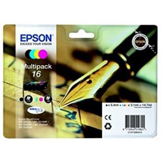 Epson fekete + színes tintapatron, 16 PC