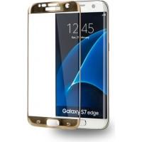 AZURI KÉPERNYŐVÉDŐ -  EDZETT ÜVEG - Edge2Edge - Samsung Galaxy S7 edge - Arany Mobil