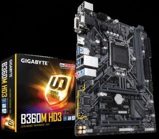 Gigabyte B360M HD3 desktop alaplap PC