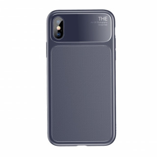 Baseus Khight szilikon hátlap, iPhone X, Kék Mobil