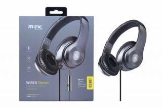 BH227 K3407 Fejhallgató mikrofonnal 1,5m szürke Mobil