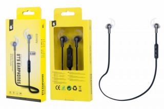 BH578 N8439 Sport Bluetooth fülhallgató mikrofonnal Fekete Mobil