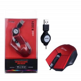 BH590 Vezetékes notebook egér csévélő funkcióval piros PC - akciós ... 728513c698