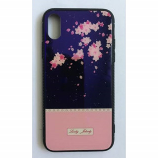BH646 Telefon tok BLU-RAY Üveg Part Pink Flower Iphone 7/8 Mobil