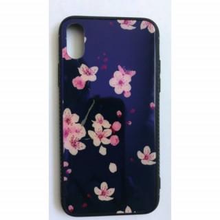 BH657 Telefon tok BLU-RAY Üveg Full Pink Flower Iphone X Mobil