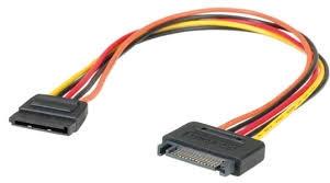 Kábel Táp Hosszabbító Kolink SATA PWR (Male) - SATA PWR (Female) 30cm PC