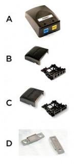 Univerzális office box - 2 portos, SL és AMPTWIST hellyel, fehér (10 db) PC