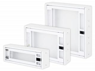 Adatátviteli modul 166x500x110mm, fényes RAL9003 PC