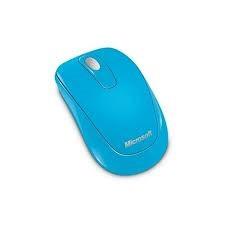 Microsoft Mobile Mouse 1000 vezeték nélküli egér, ciánkék PC