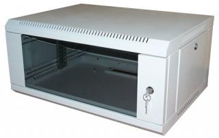 RITTAL NT fali rack 9U 600x600, üvegajtóval PC