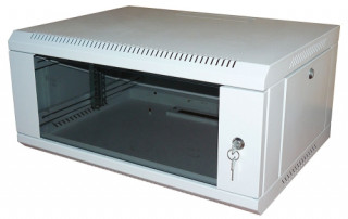 RITTAL NT fali rack 12U 600x600, üvegajtóval PC