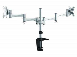 Rainbow asztali konzol 2 db LCD kijelzőhöz, 3 tengelyű karral, VESA 75/100 Több platform