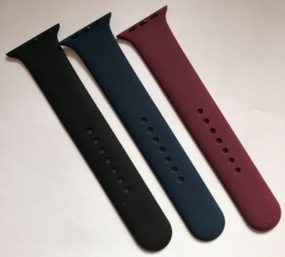 BH890 BlackBird Szilikon szíj Iwatch készülékhez 38mm L méret Éj kék Mobil
