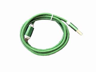 BH207 Type-c USB kábel 1m zöld 2A Mobil