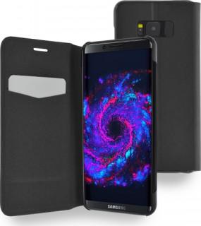 AZURI kinyitható tok-kitámasztó funkcióval-fekete-Samsung G950 Galaxy S8 Mobil
