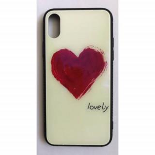 BH677 Telefon tok BLU-RAY Üveg Heart Iphone X Mobil