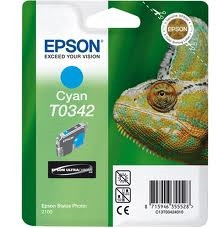 Epson cián tintapatron, 1 darab, T0342, Ultra Chrome PC