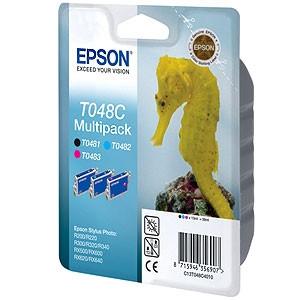 Epson fekete + színes tintapatron, 3-colours T048C PC