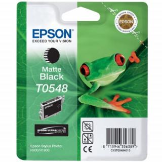 Epson mattfekete tintapatron, 1 darab, T0548, Ultra Chrome, magasfényű PC