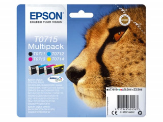 Epson fekete + színes tintapatron, T0715, DURABrite Ultra tinta PC