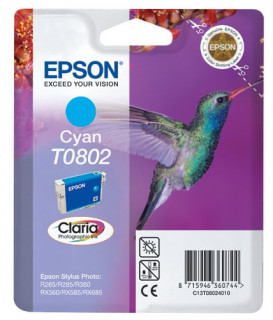 Epson cián tintapatron, 1 darab, T0802, Claria fotó tinta PC