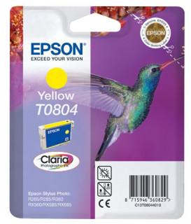 Epson sárga tintapatron, 1 darab, T0804, Claria fotó tinta PC