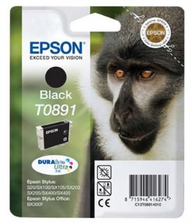 Epson fekete tintapatron, 1 darab, T0891, DURABrite Ultra tinta PC