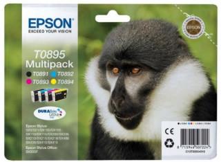 Epson fekete + színes tintapatron, T0895, DURABrite Ultra tinta PC